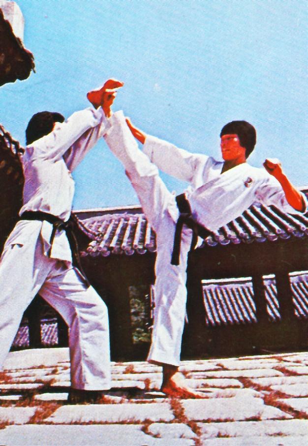 Taekwondo Kampf historisches Foto